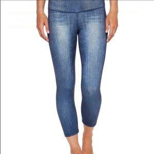 NWOT Lucy athletics indigo leggings crop